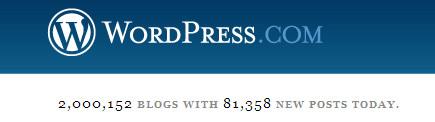 WordPress hits two million!