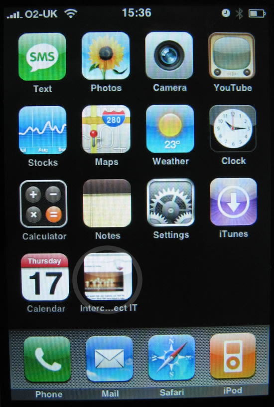 iPhone Safari 1.1.3 Bookmarks on the Home Screen